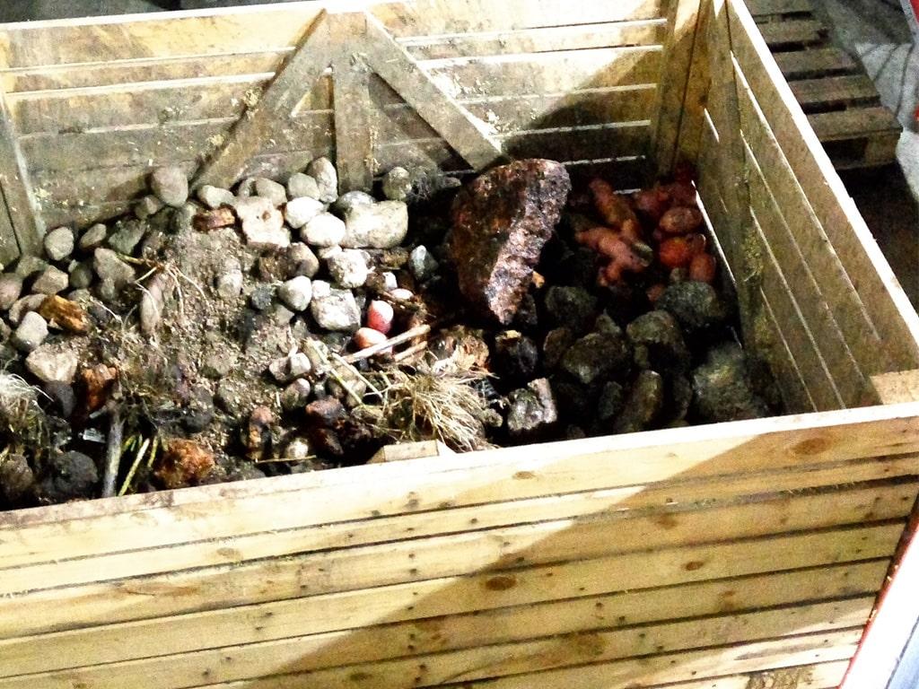 Машина отделения камней от овощей