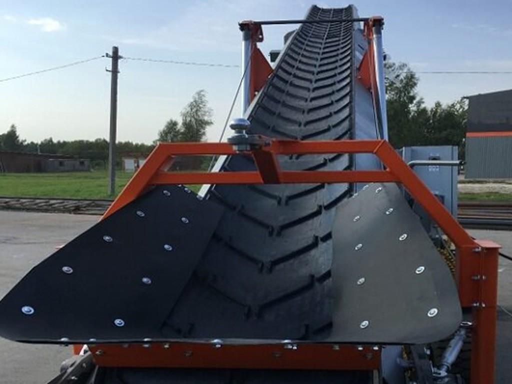 Телескопический буртоукладчик для свеклы
