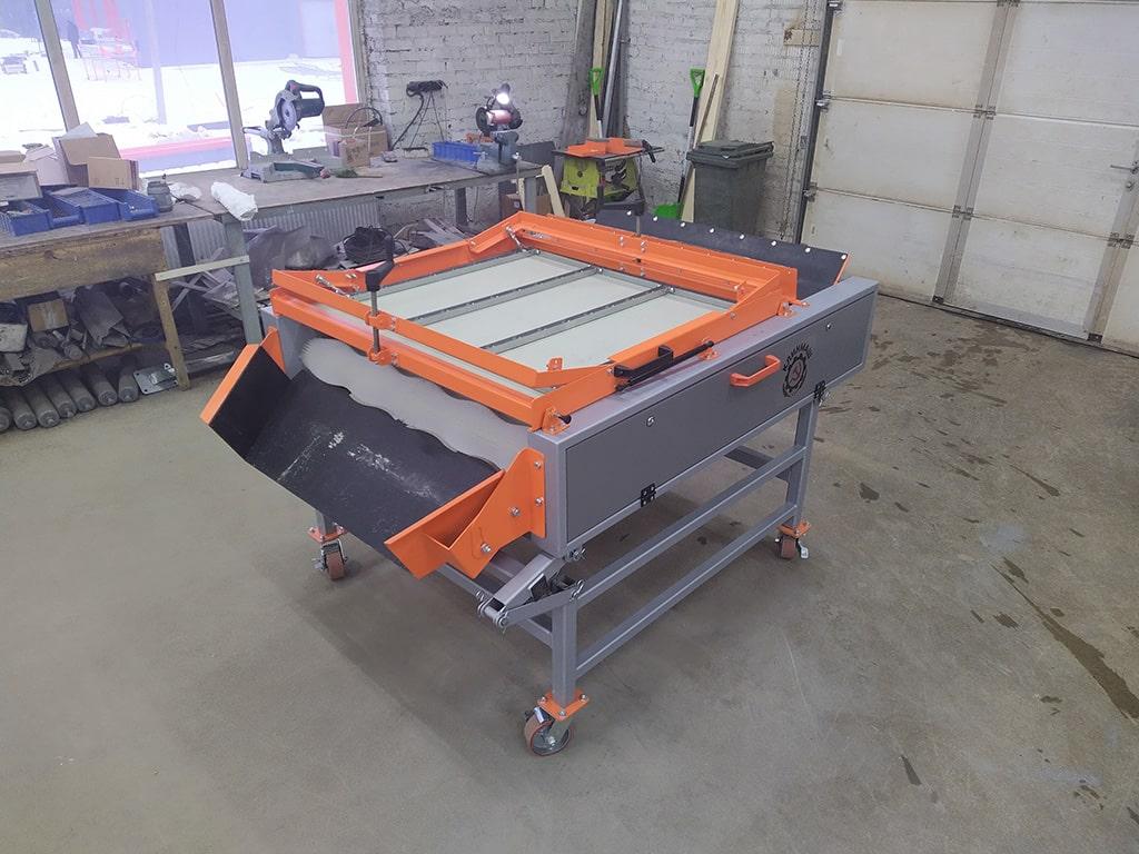 Оборудование сухой чистки моркови