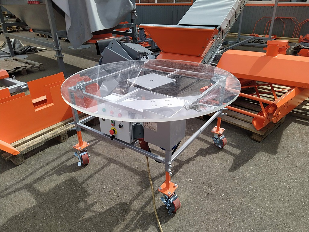 Поворотный стол для чеснока