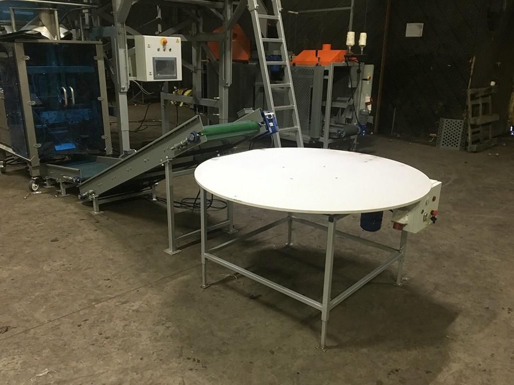 Поворотный стол для упаковки овощей