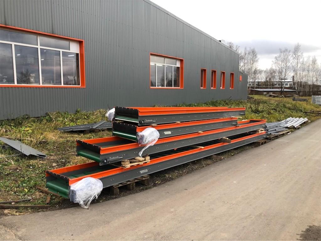 Загрузочный транспортер-конвейер для огурцов