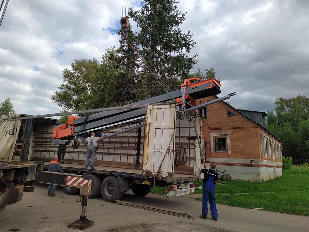 Телескопический транспортер погрузка для доставки